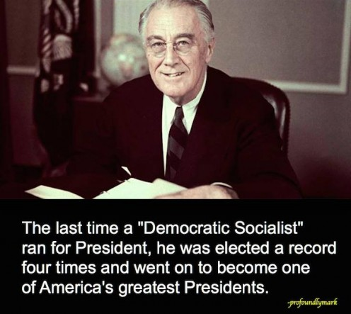 Look at the definition of Democratic Socialist and explain to them it is like FDR, not like Hitler or Stalin. Be aware that they were taught in school to fear the Red Peril.