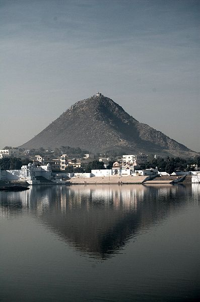 View from Sarasvati temple overlooking Pushkar lake