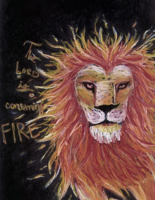 """Consuming Fire"" - pastel"
