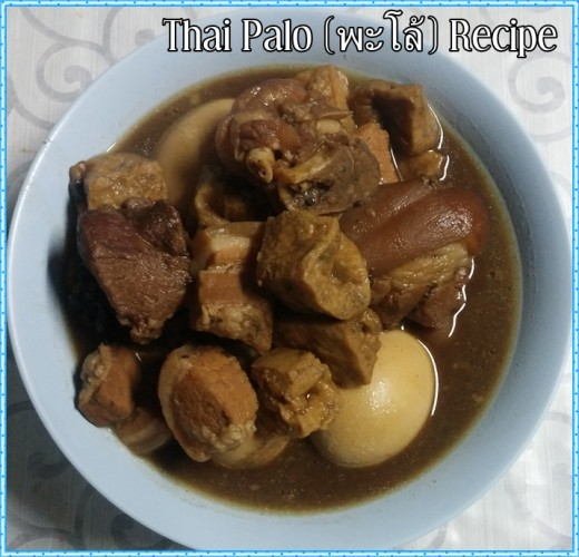 Thai Palo (pork and egg five-spice stew) recipe