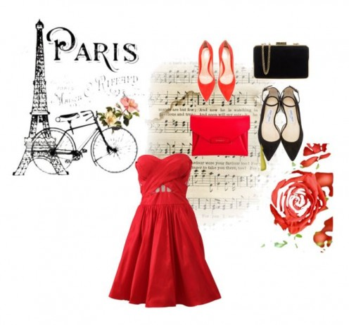 Chic Ensemble For An Evening In Paris Wining And Dining