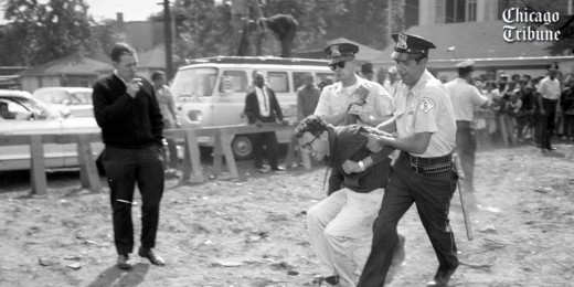 A young Bernie Sanders was arrested fighting for civil rights in the 1960's