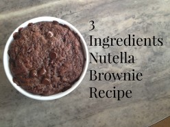 3 Ingredients: Nutella Brownie in a Mug