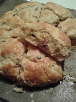 Cranberry Walnut Scones