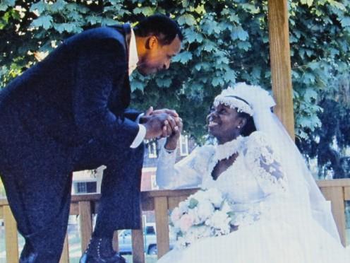 The Wedding photo of Walt and Joni Dixon, on their wedding day.