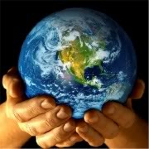Planet earth in our hands.