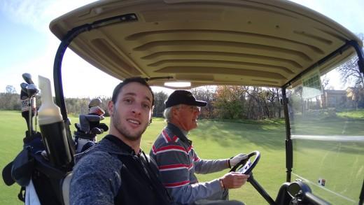 Selfie while golfing :)