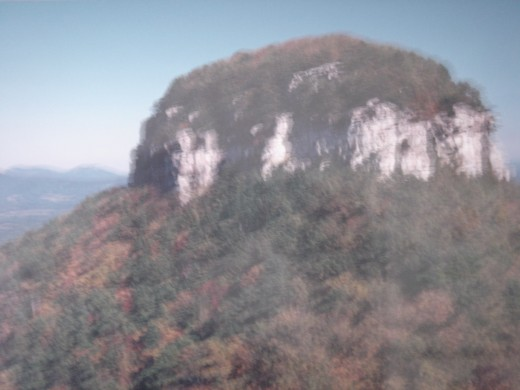 Pilot Mountain in the beginning of fall..