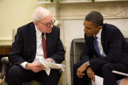 Warren Buffett with President Barack Obama (2010)