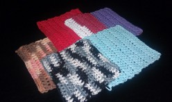 Crocheted Washcloths in Your Favorite Colors