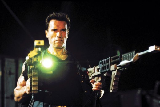 Arnie with a couple of railguns - the stuff of nightmares for bad guys everywhere...