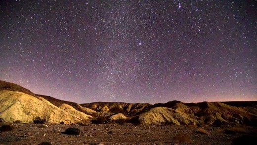 A sky full of stars over Death Valley National Park.