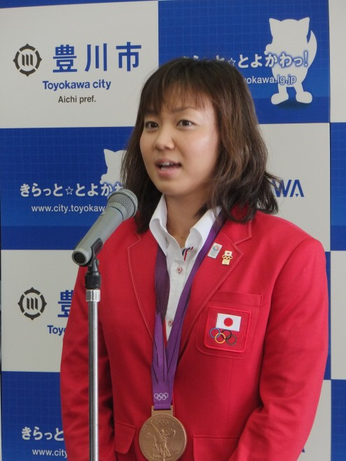 Yuka Kato at the Toyokawa City Hall in September 2012.