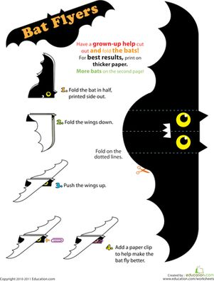 Here is a really fun bat craft idea your kids will enjoy playing with