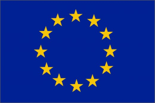 The European Flag, with stars representing solidarity and the circle shape created by the stars representing unity.