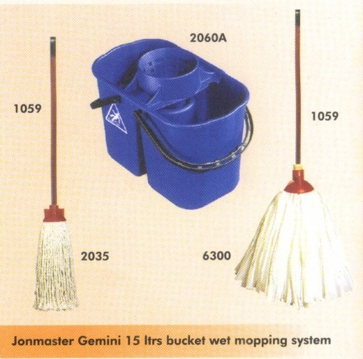 Mop and bucket:  Again something men who are modern and out looking have got used to using.
