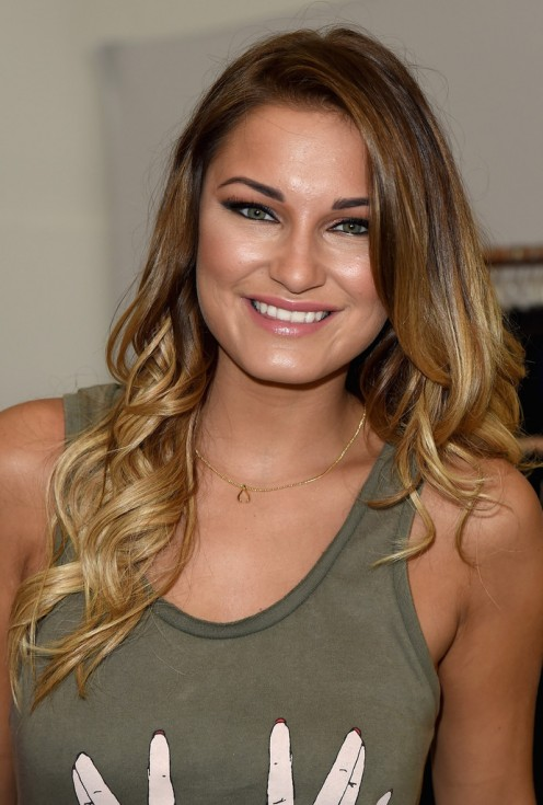 Sam Faiers is present at an event called Graduate Fashion Week in London