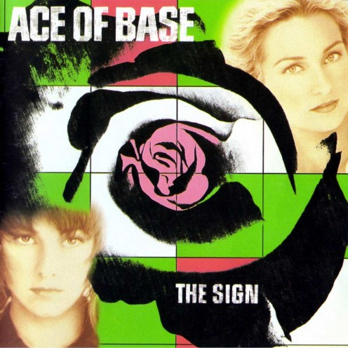 On the front cover are the two female vocalists that sang for Ace of Base. Jenny is on the lower left and Linn is on the upper right.