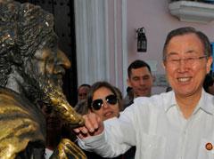 UN Chief:  Ban Ki - Moon.
