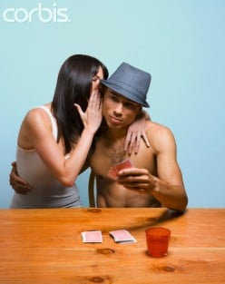 """""""She"""" is always at his weekly poker game with the guys."""