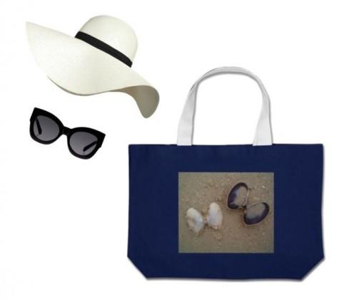 Cool bag, hat and sunglasses.