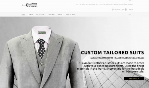 Claymore Brothers offer the highest quality suits available online. Some items are a touch more expensive than other sites, as the cloth used to make the suits is very high quality.