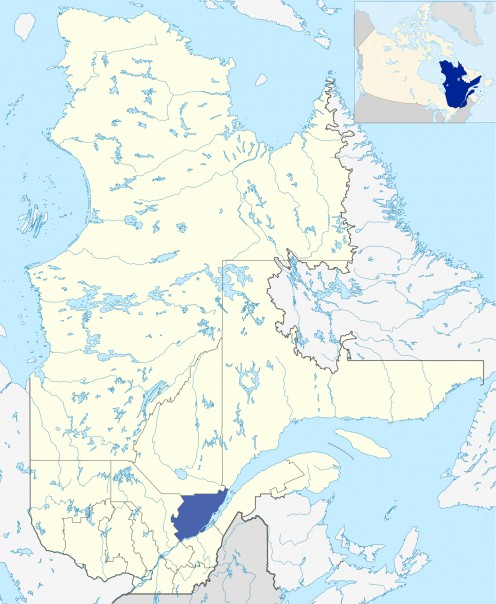Map location of Capitale-Nationale / National Capital region, Quebec
