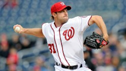 Two time Cy Young award winning power pitcher Max Scherzer