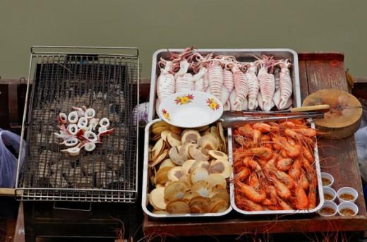 Seafood market in Hua Hin