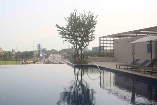 Rooftop pool at True Arena Hua Hin
