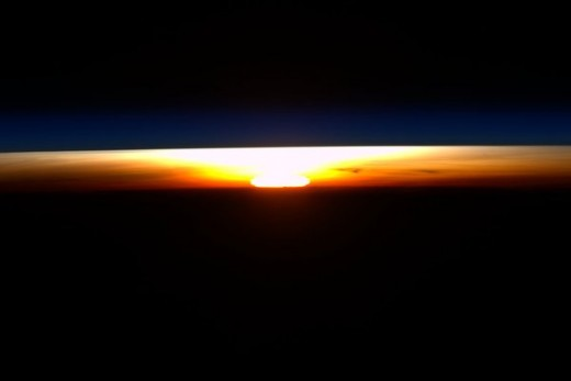 How Sun rises in  space