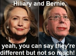 So just how are Hilliary and Bernie different? Is Bernie really more truthful than Hiliary?