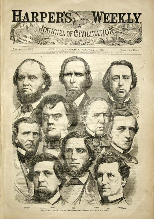 The Seceding Georgia Congressional Delegation from Harpers Weekly