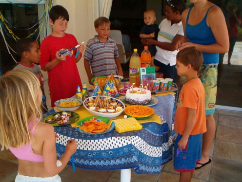 Kids enjoying the party