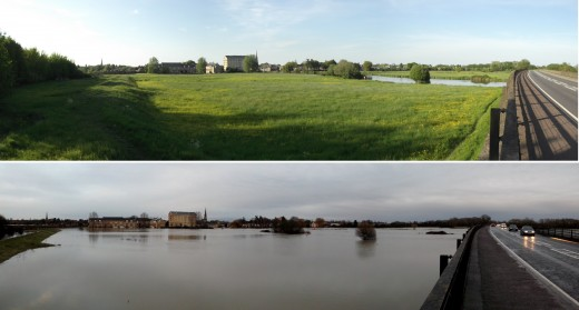 St.Ives,Huntingdon District,Cambridgeshire,UK Before and after the floods by Michael Mulcahy @mamulcahy all rights reserved.
