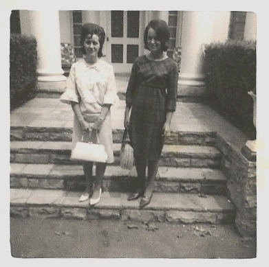 My sister, Sandra, is on the right.  Her friend, Bonnie, is on the left.