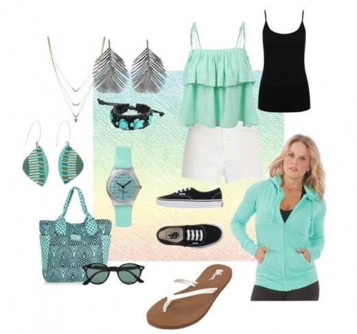 Sea green and aquamarine says it all