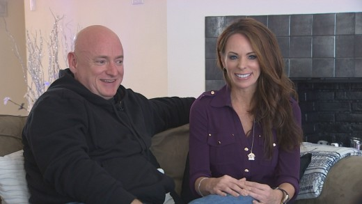 Scott Kelly and wife