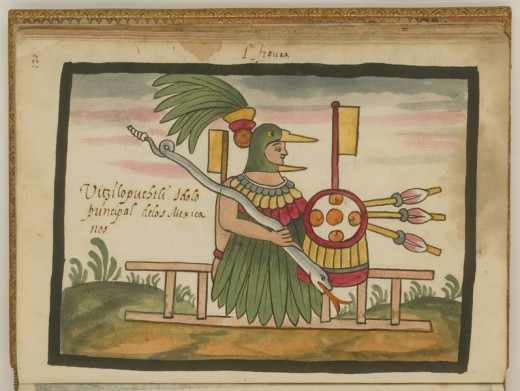 Huitzilopochtli, the Aztec Hummingbird God