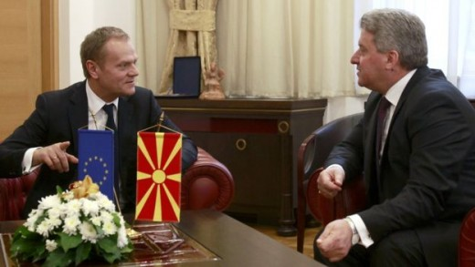 Mr. Tusk meets with Macedonian President Gjorge Ivanov