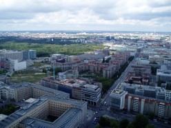 Aerial photo of Wilhelmstrasse and the Tiergarten, Berlin