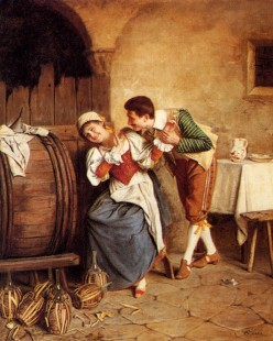 Behavior such as this was not permitted in early 1800's for it was thought by the church and parents to lead to premarital sex.