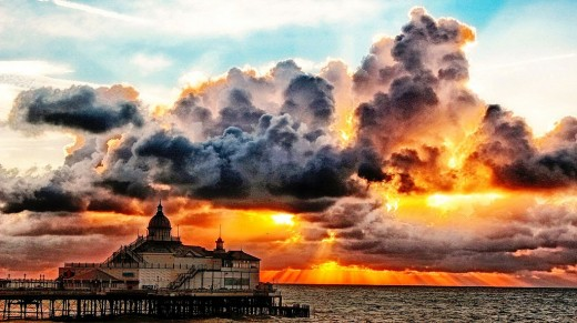 Fantastic picture of clouds over Eastbourne Pier.