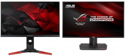 The big showdown this year is between Asus' PG279Q and the Acer XB271HU.