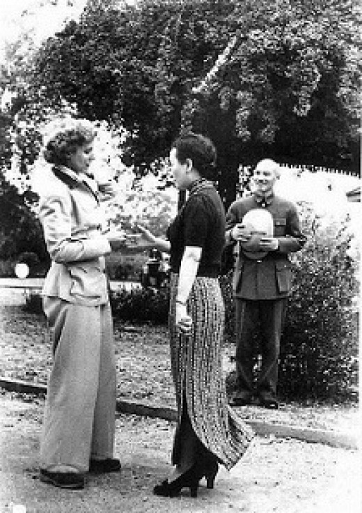 Gen. Chiang Kai-Shek & Madame Chiang welcome Clare Boothe Luce - April of 1942