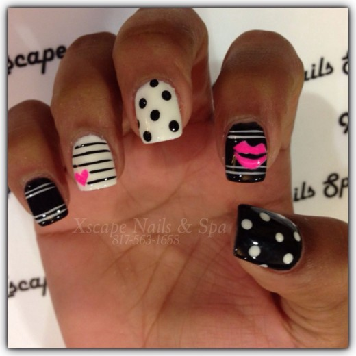Black and White | Nail Art Ideas for Birthday