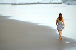 Long walks on the beach alone