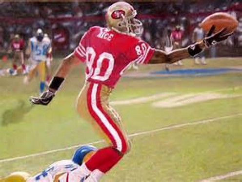 Jerry Rice is widely considered by experts to be the best receiver in the history of the NFL.