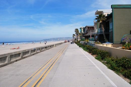 Mission Beach boardwalk on a perfect San Diego day!