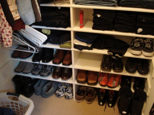 Shoe Space in Walk in Closet